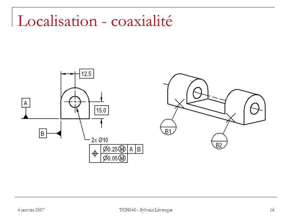Localisation - coaxialité