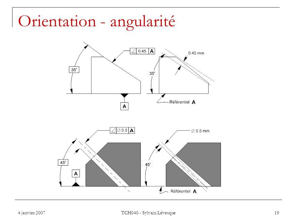 Orientation - angularité