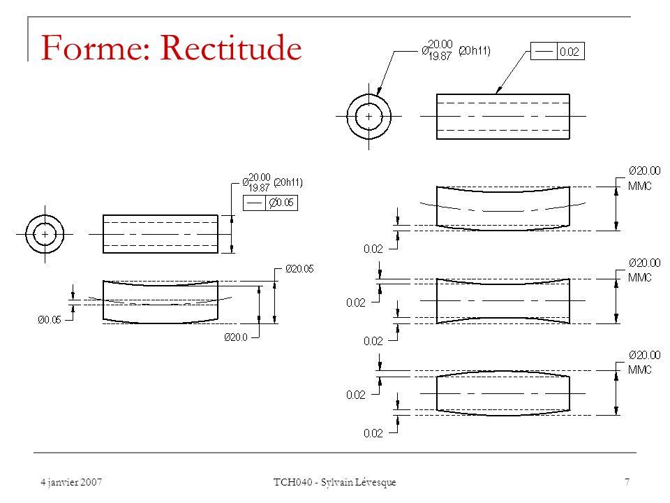 Forme: Rectitude TCH040 - Sylvain Lévesque 4 janvier 2007