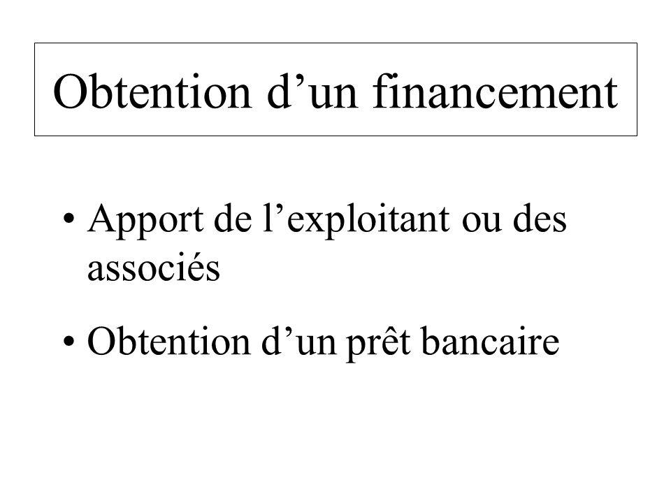 Obtention d'un financement