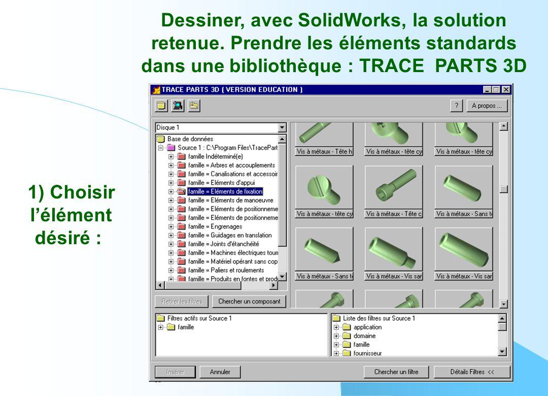 Dessiner, avec SolidWorks, la solution