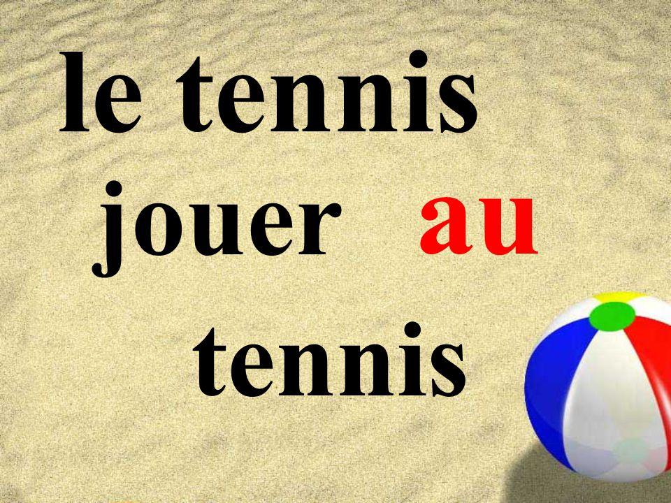 le tennis au jouer tennis