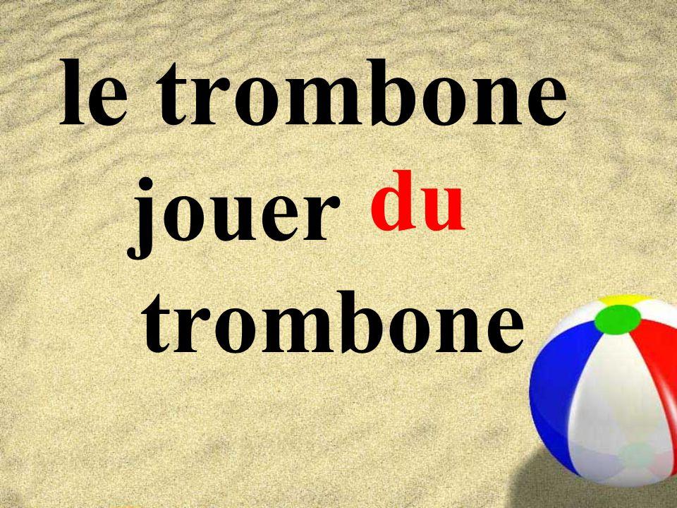 le trombone du jouer trombone