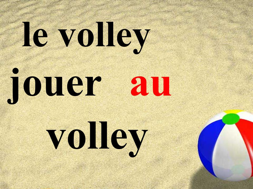 le volley jouer volley au