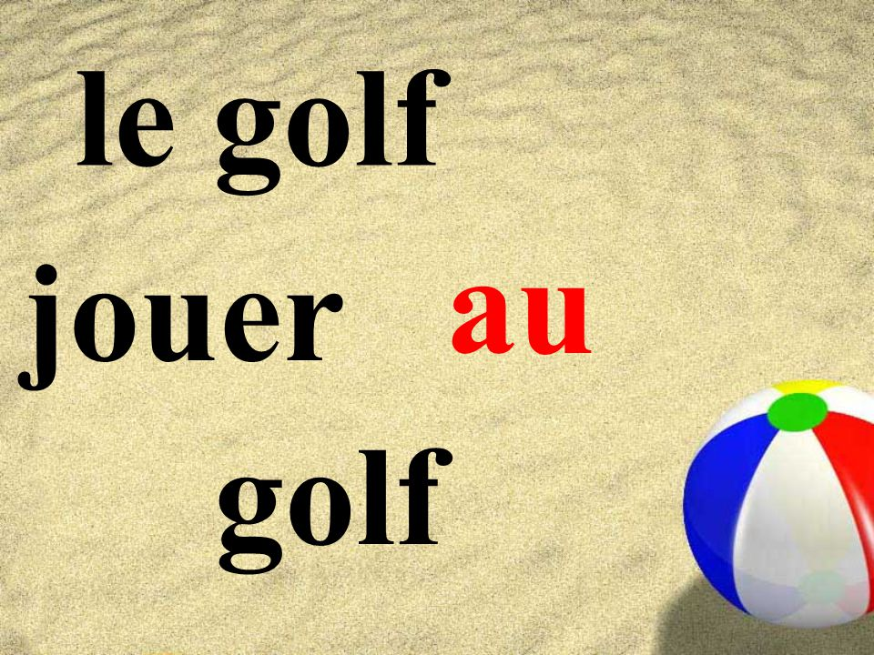 le golf au jouer golf
