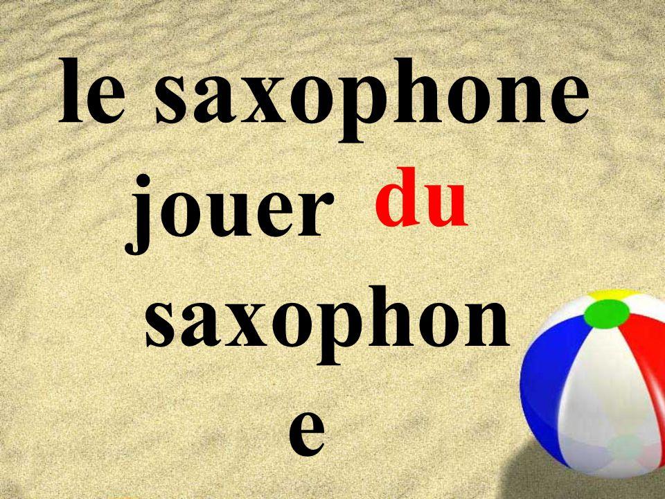 le saxophone du jouer saxophone
