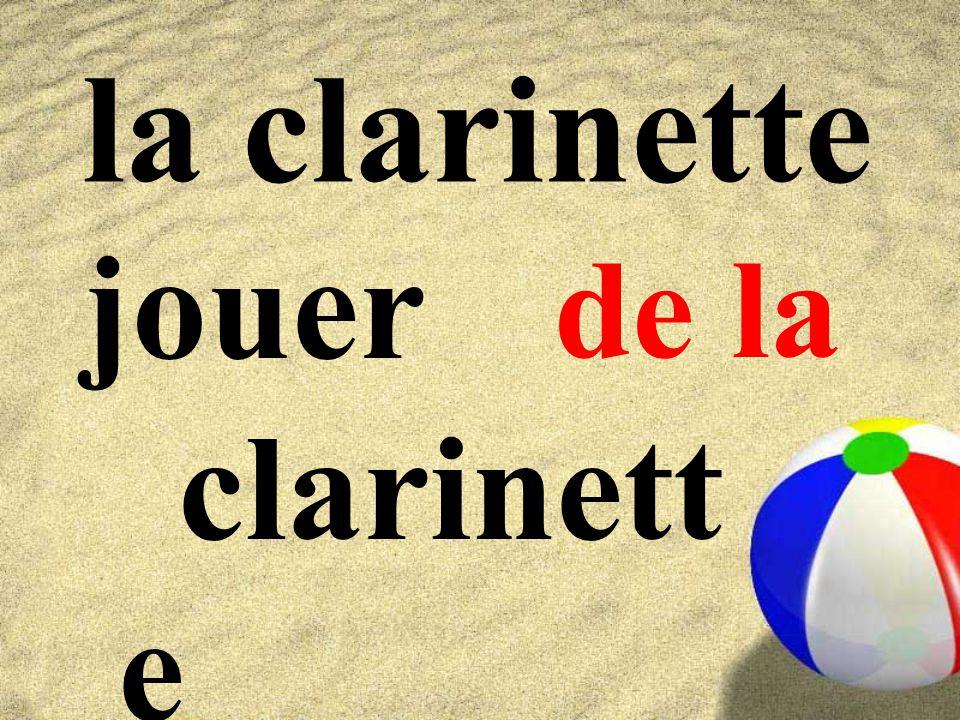 la clarinette jouer clarinette de la