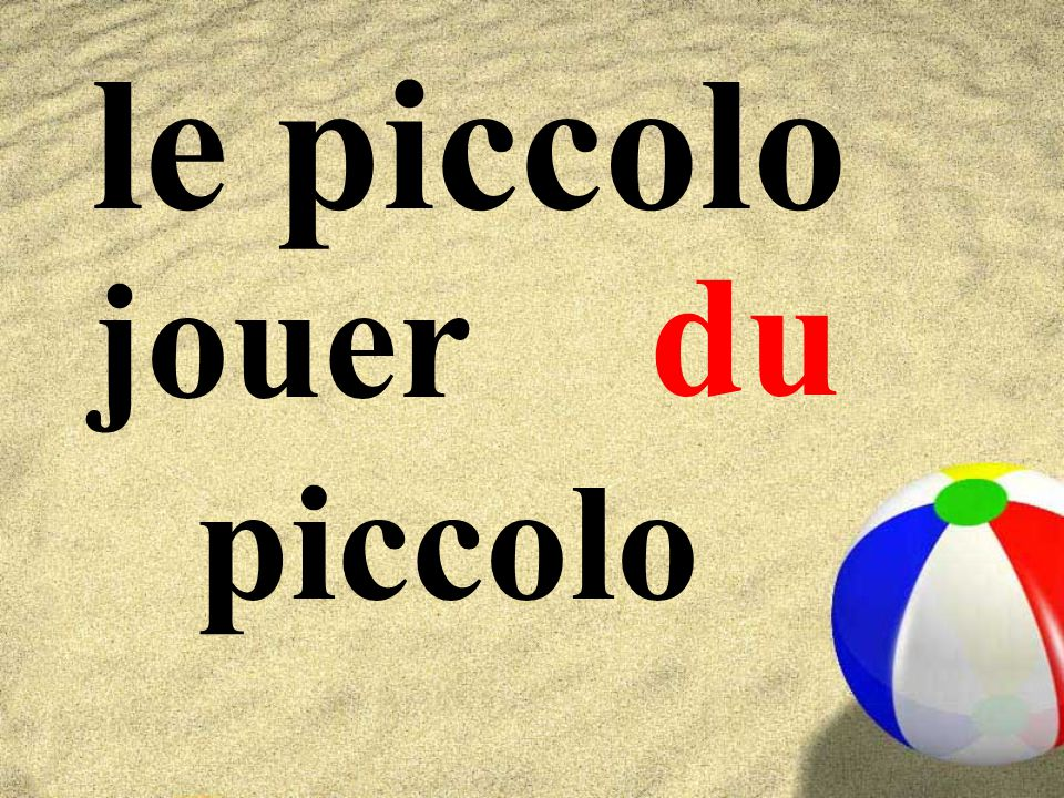le piccolo du jouer piccolo