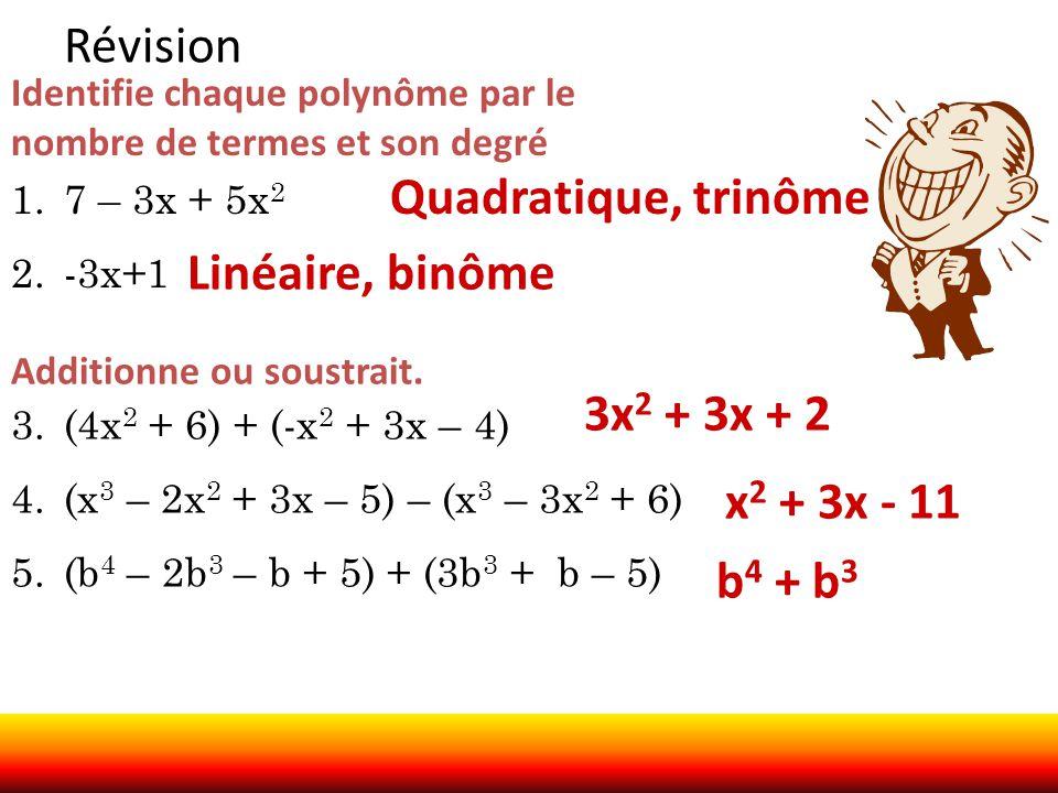 Révision Quadratique, trinôme Linéaire, binôme 3x2 + 3x + 2