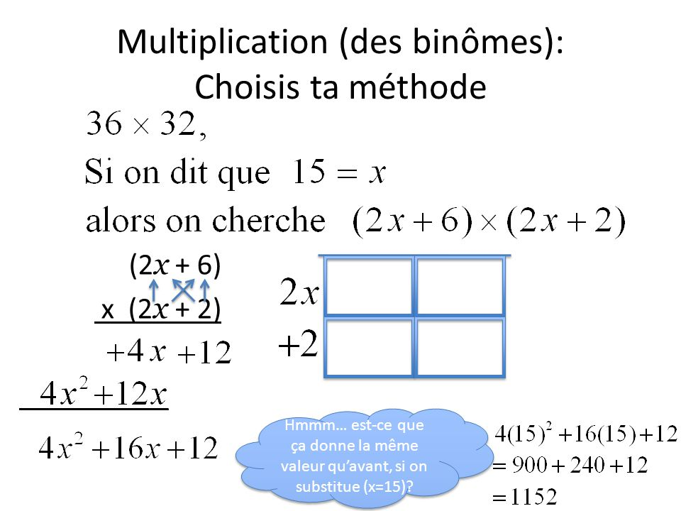 Multiplication (des binômes): Choisis ta méthode