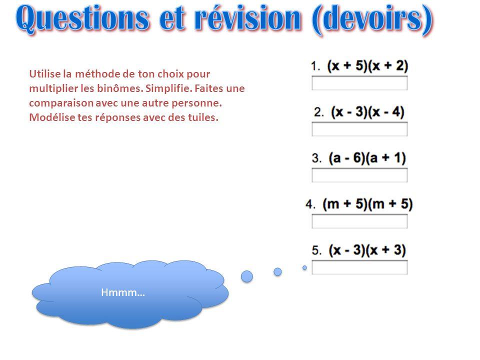 Questions et révision (devoirs)