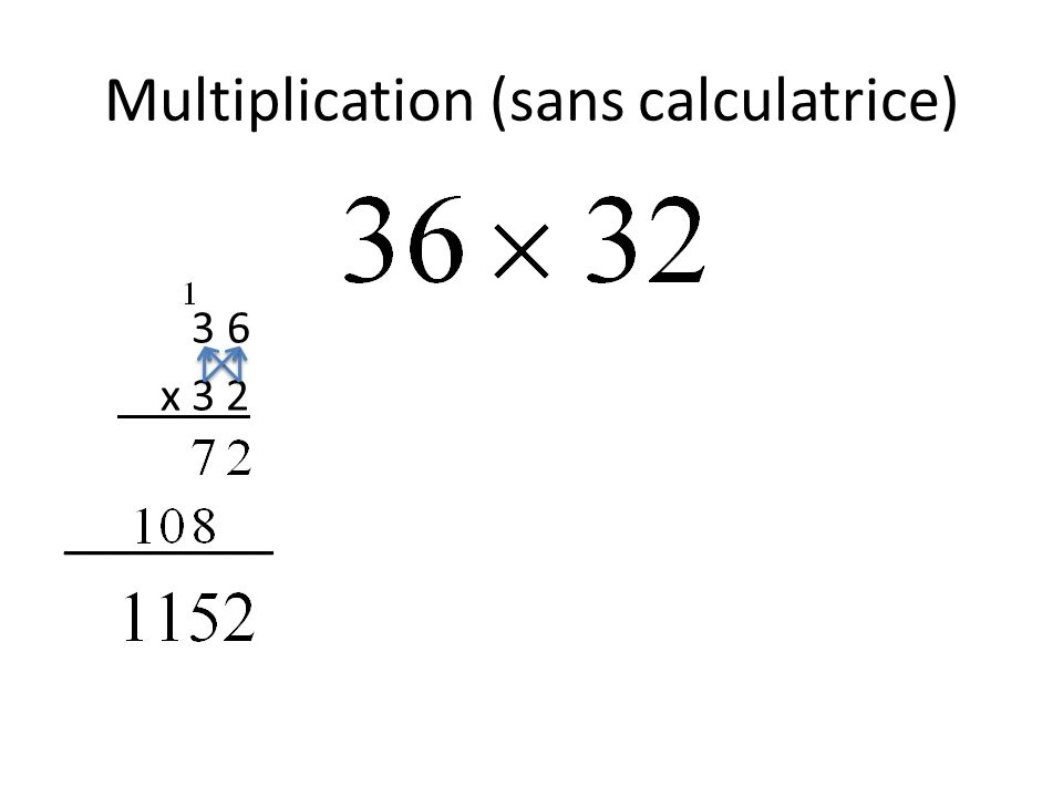 Multiplication (sans calculatrice)
