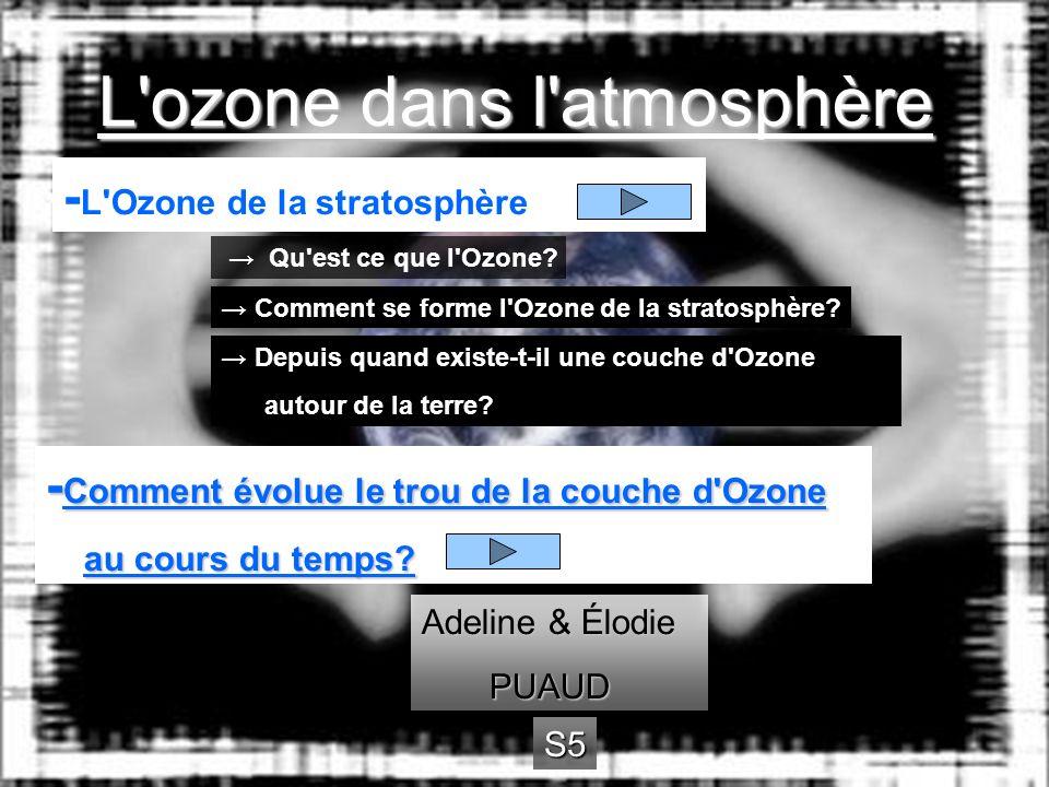 L ozone dans l atmosphère
