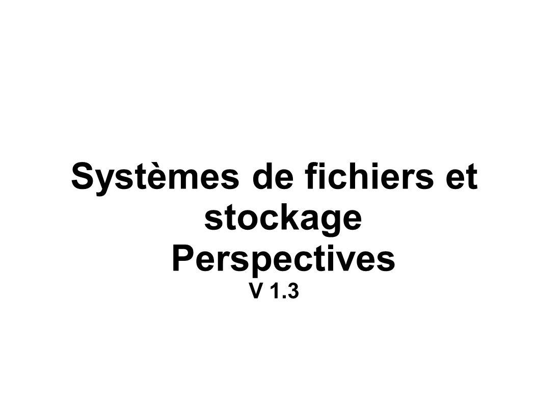 Systèmes de fichiers et stockage Perspectives V 1.3
