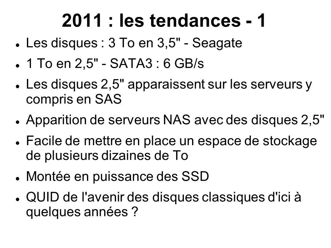 2011 : les tendances - 1 Les disques : 3 To en 3,5 - Seagate