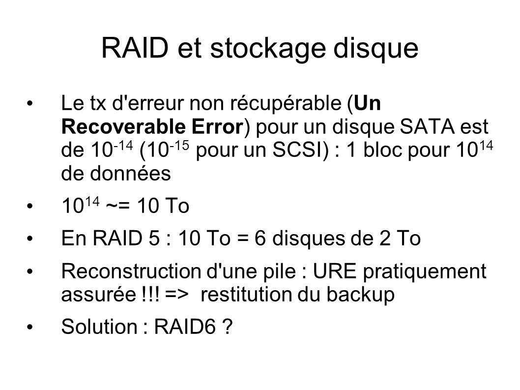 RAID et stockage disque