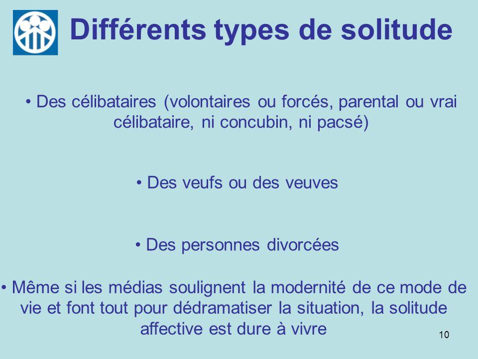 Différents types de solitude