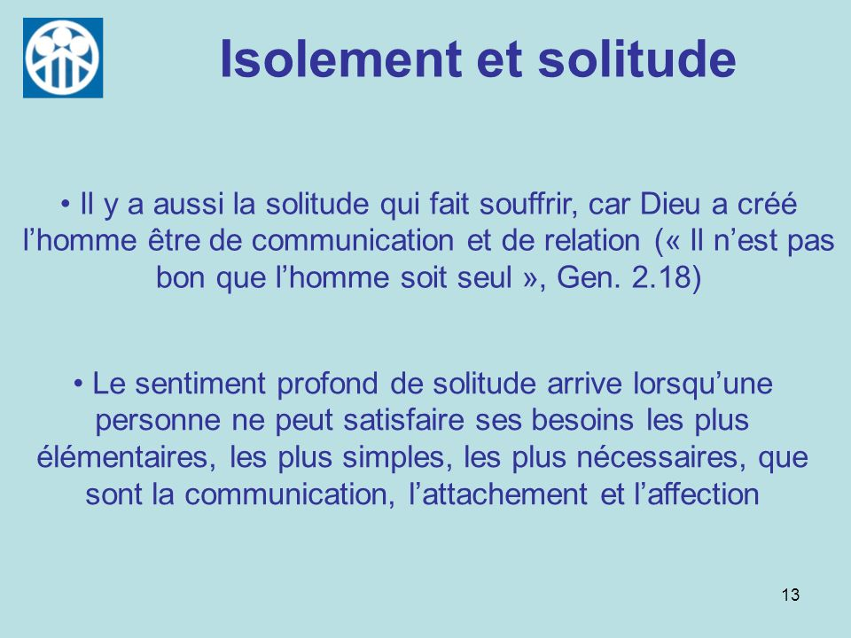 Isolement et solitude