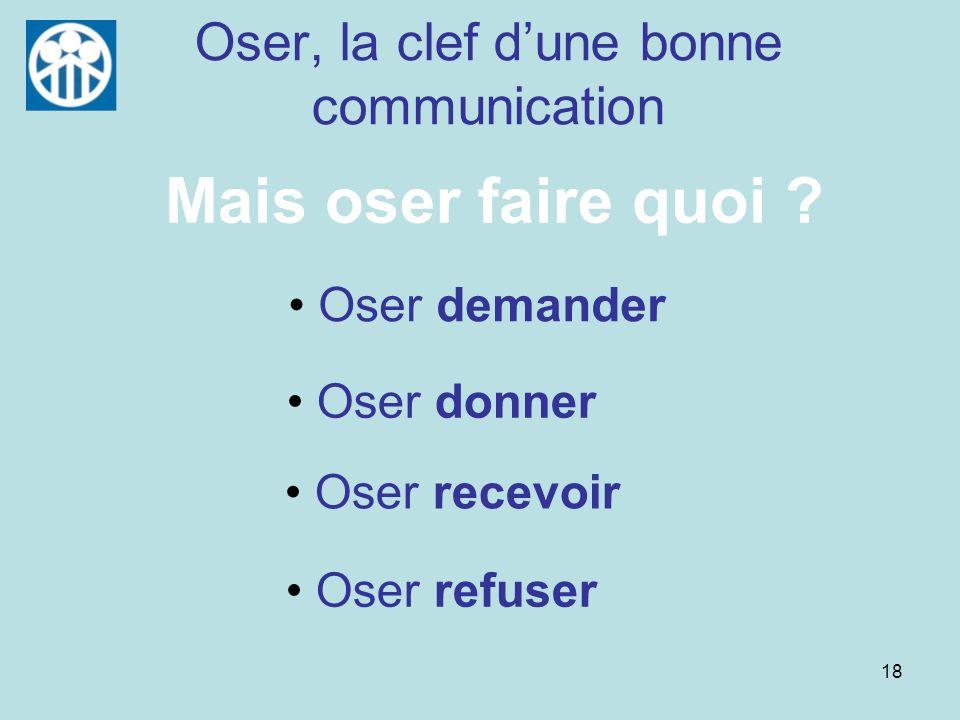 Oser, la clef d'une bonne communication