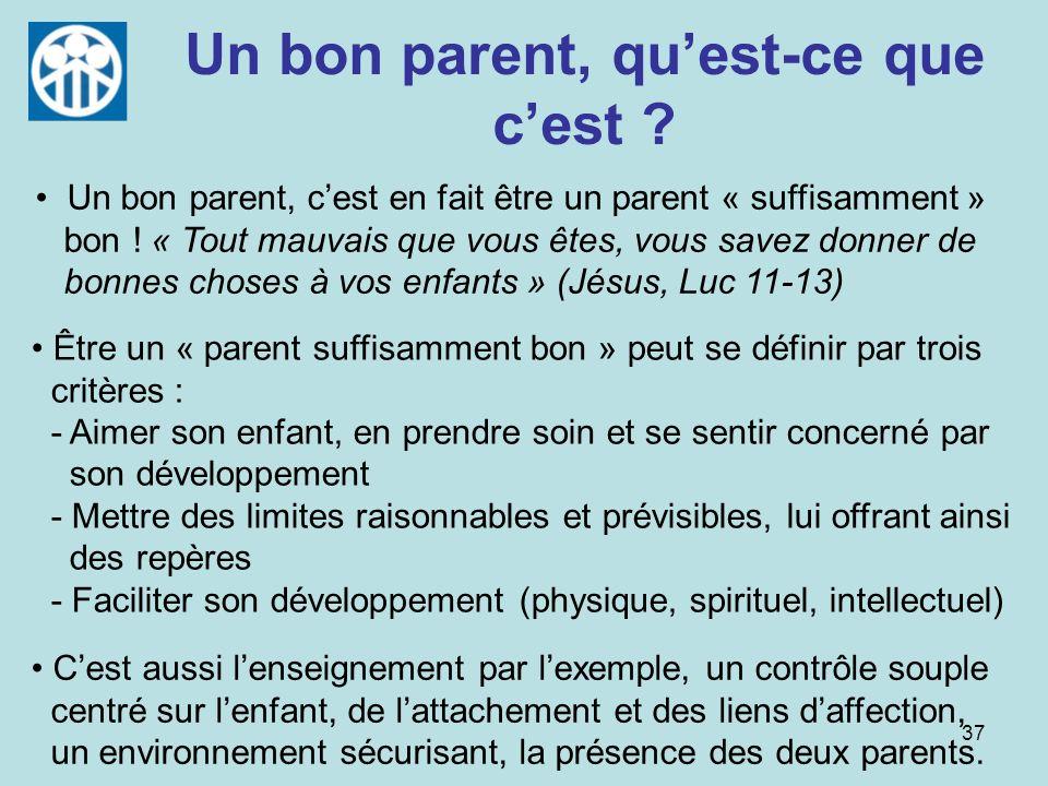 Un bon parent, qu'est-ce que c'est