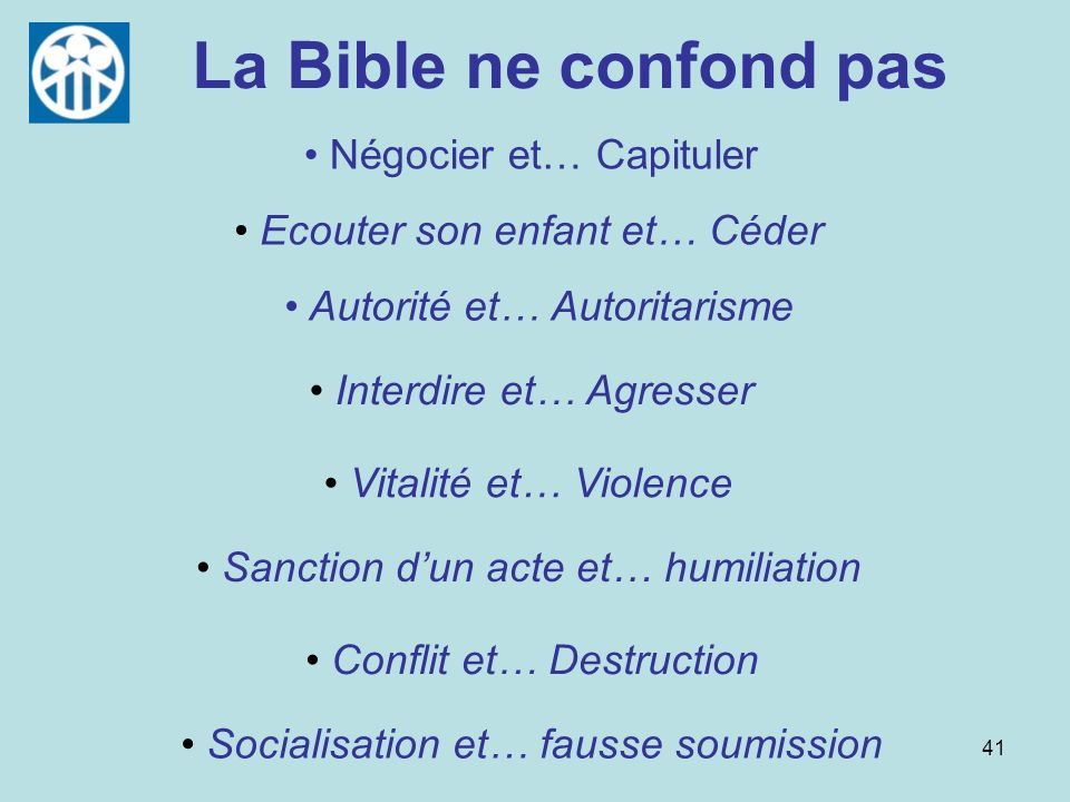 La Bible ne confond pas Négocier et… Capituler