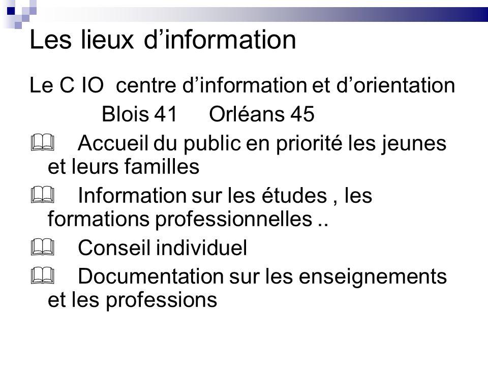 Les lieux d'information