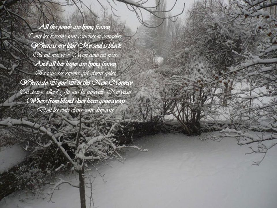 All the ponds are lying frozen,
