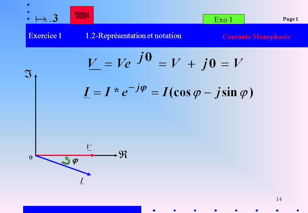 Exercice 1 1.2-Représentation et notation