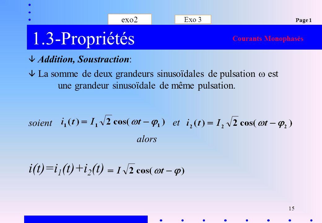 1.3-Propriétés i(t)=i1(t)+i2(t) soient et alors exo2