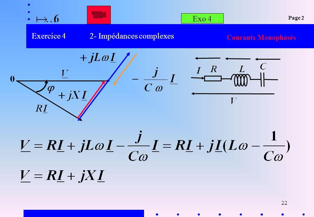 Exercice 4 2- Impédances complexes