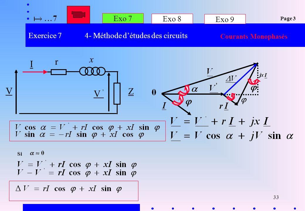 Exercice 7 4- Méthode d'études des circuits