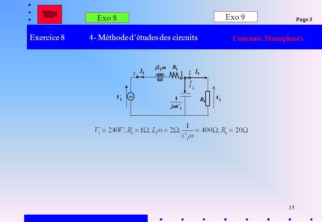 Exercice 8 4- Méthode d'études des circuits