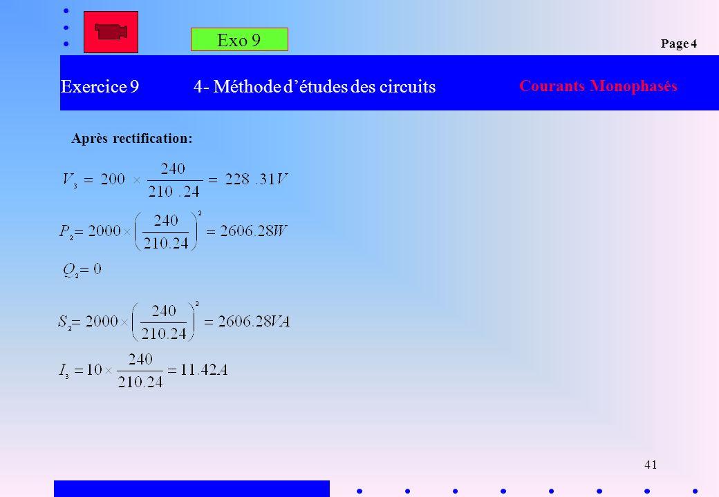 Exercice 9 4- Méthode d'études des circuits