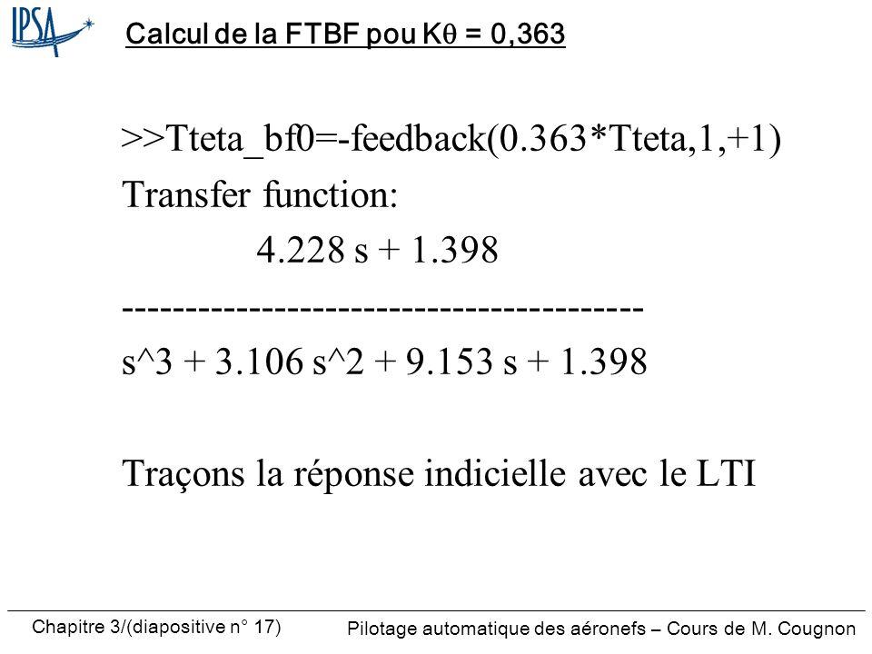 Calcul de la FTBF pou Kq = 0,363