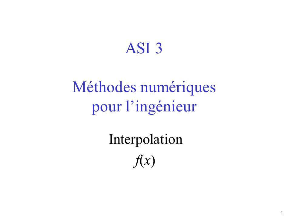 ASI 3 Méthodes numériques pour l'ingénieur