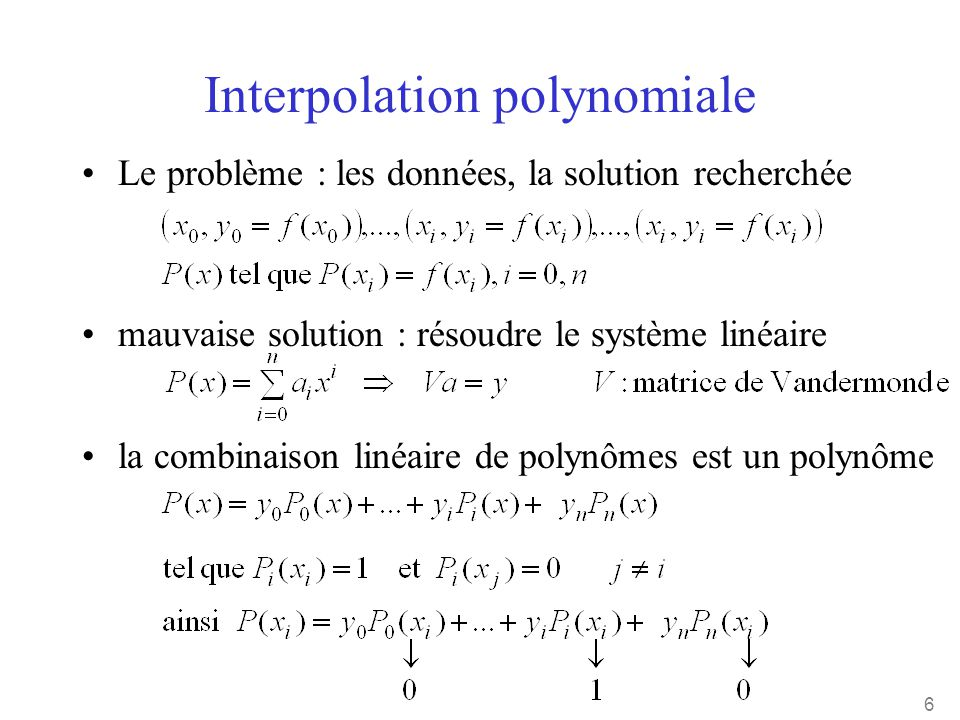 Interpolation polynomiale