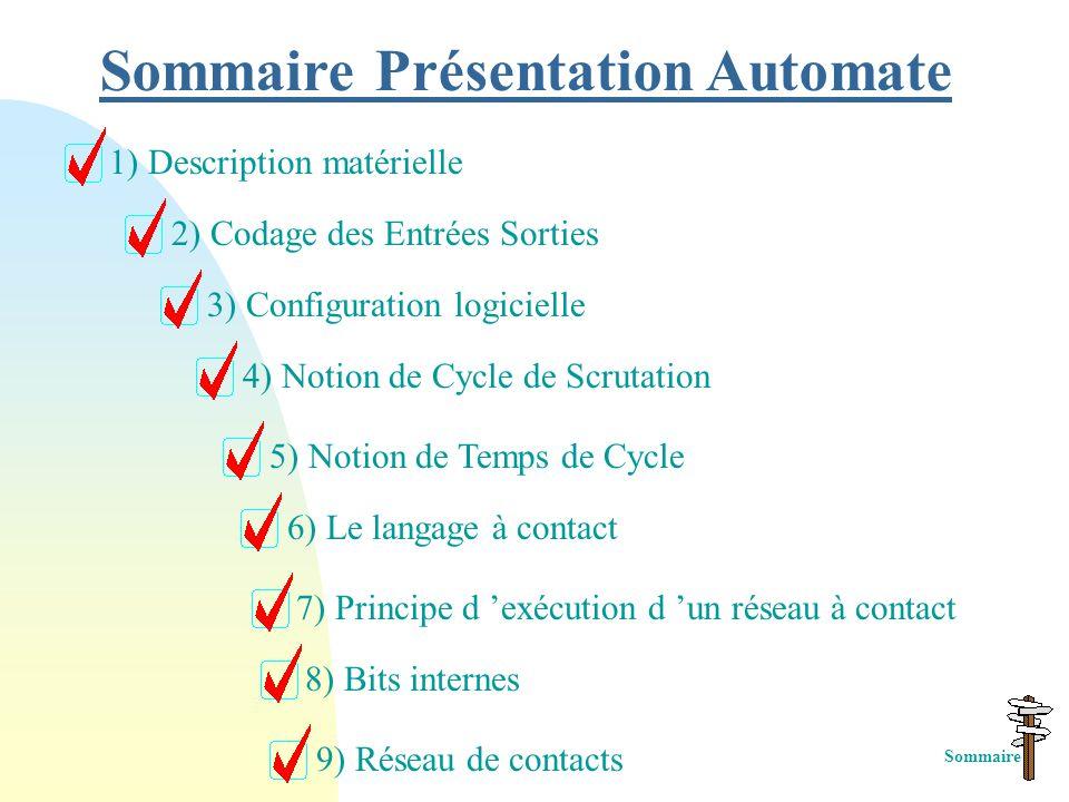 Sommaire Présentation Automate