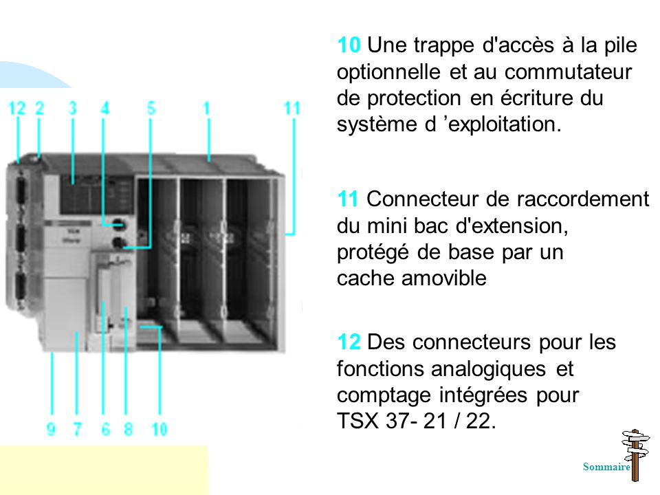 11 Connecteur de raccordement du mini bac d extension,