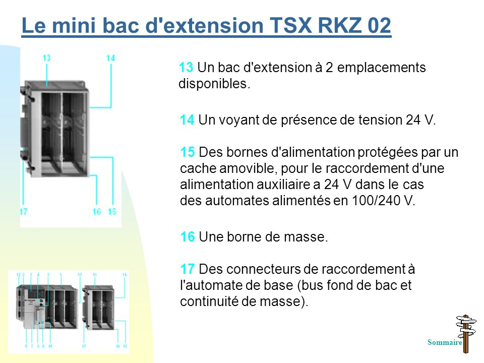 Le mini bac d extension TSX RKZ 02