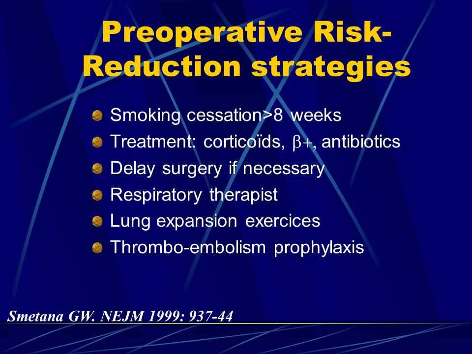Preoperative Risk-Reduction strategies