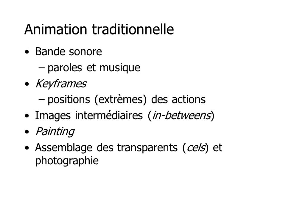 Animation traditionnelle