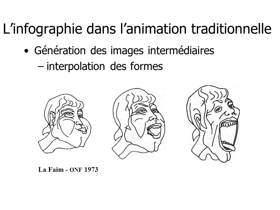 L'infographie dans l'animation traditionnelle