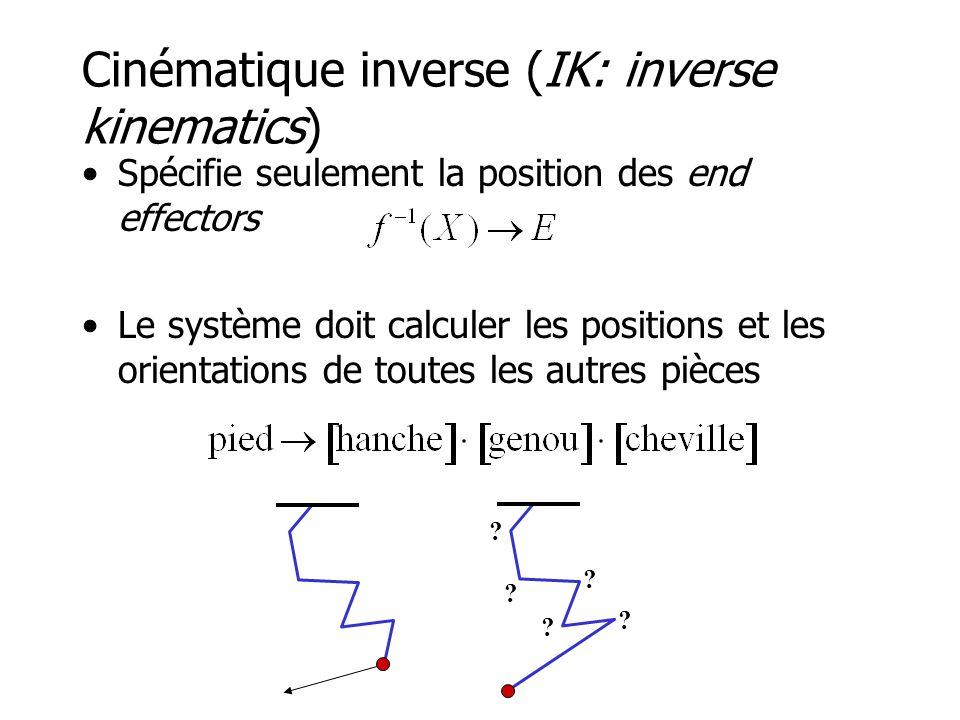 Cinématique inverse (IK: inverse kinematics)