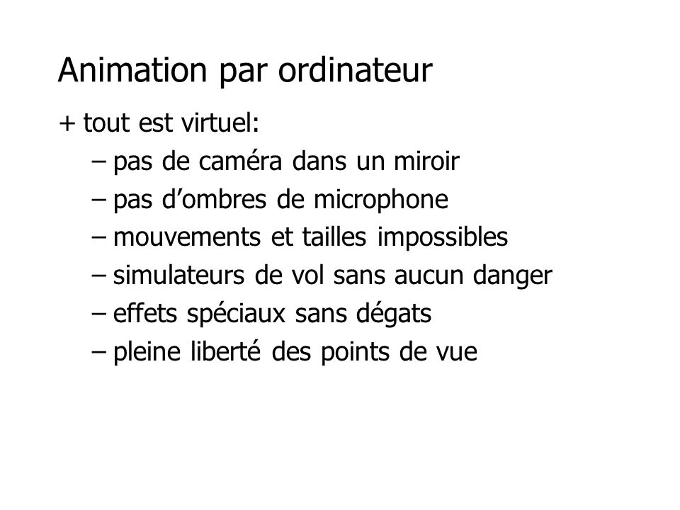 Animation par ordinateur