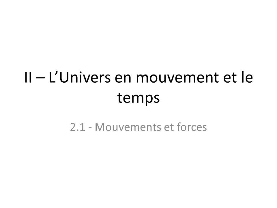 II – L'Univers en mouvement et le temps