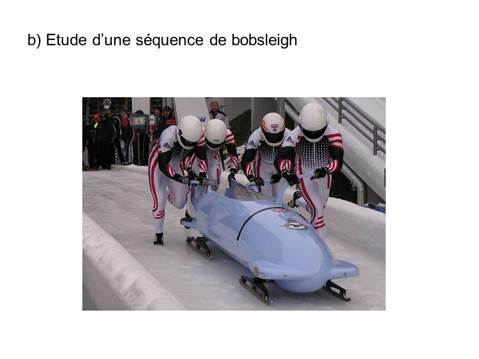 b) Etude d'une séquence de bobsleigh