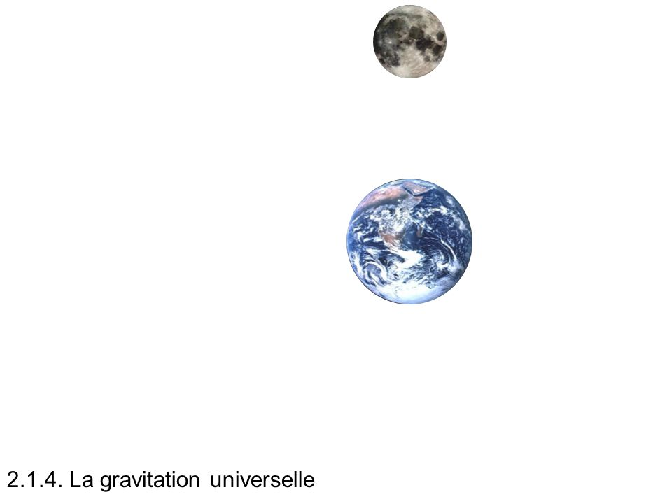2.1.4. La gravitation universelle