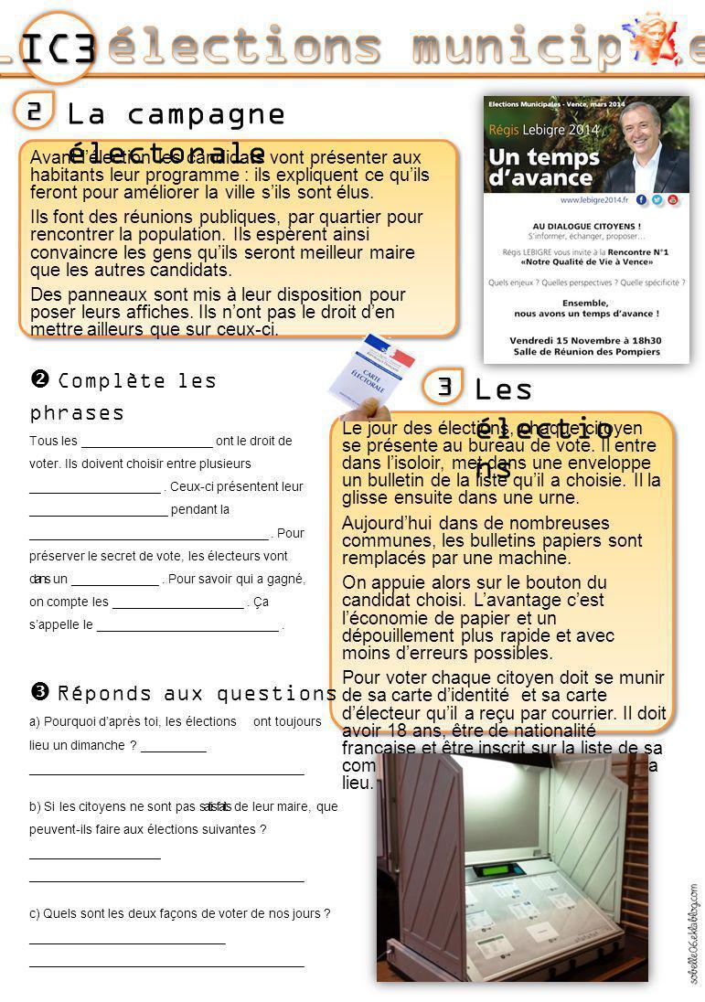 Les lections municipales ppt t l charger - Comment savoir dans quel bureau de vote on est inscrit ...