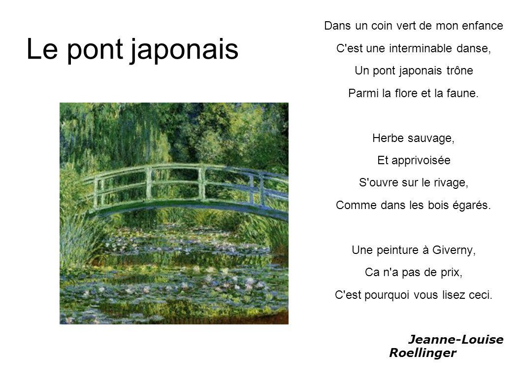 Le pont japonais Dans un coin vert de mon enfance