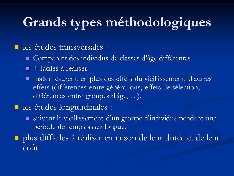 Grands types méthodologiques